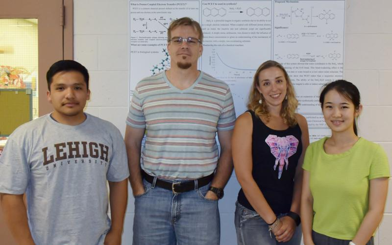 Bob with the summer 2016 Samarium Group: Andres Vazquez-Lopez, Tesia Chciuk, and Anna Li.