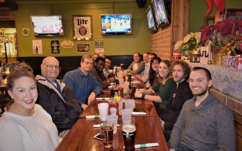 The Flowers group gathers for the annual reunion to celebrate the holidays.